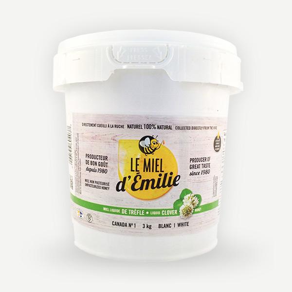 Miel de trèfle 3 kg