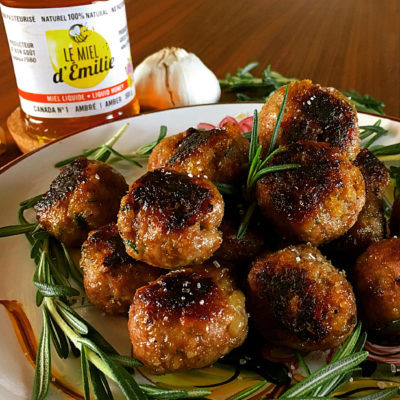 Rosemary-Honey Lamb Meatballs