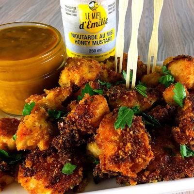 Bouchées de poulet à l'incroyable moutarde au miel